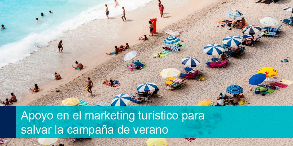 Apoyo en el marketing turístico para salvar la campaña de verano