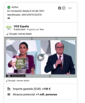 Anuncio VOX