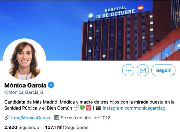 Mónica García candidata Más Madrid