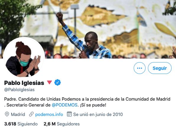 Perfil Twitter Podemos