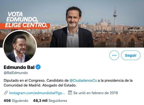 Edmundo Bal en Twitter