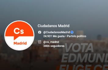 Ciudadanos Madrid en Redes Sociales
