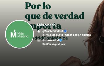 Más Madrid Redes Sociales